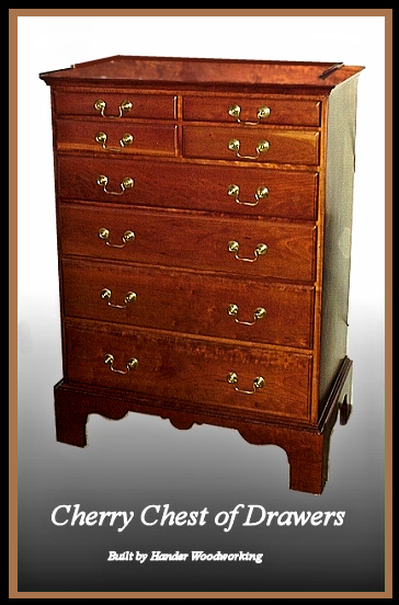 Cherry Chest Of Drawers Hander Woodworking