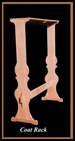 Oak Coat Rack Hander Woodworking