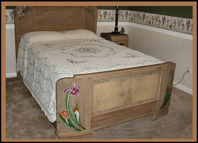 Art Deco Bed, Hander Woodworking