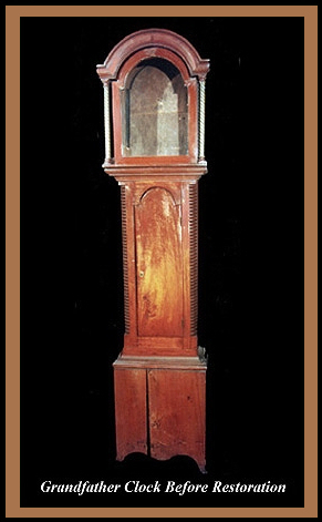Granfather Clock, Hander Woodworking