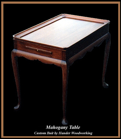 Queen Anne Mahogany Tea Table, Hander Woodworking