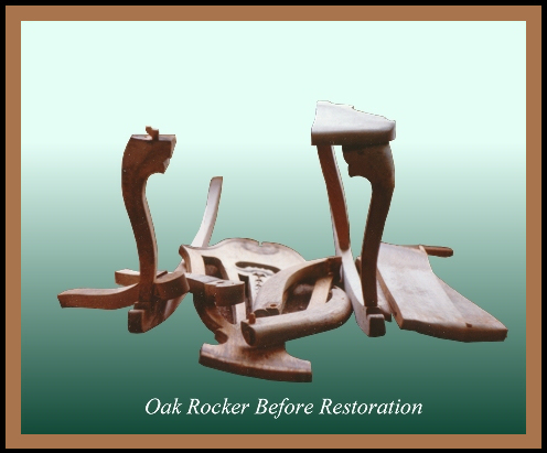 Broken Oak Rocker, Hander Woodworking