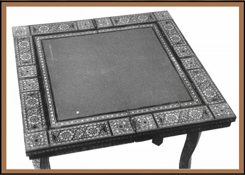 Middle Eastern Game Table, Hander Woodworking