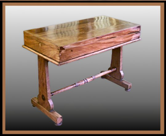 Cuban Mahogany Game Table, Hander Woodworking