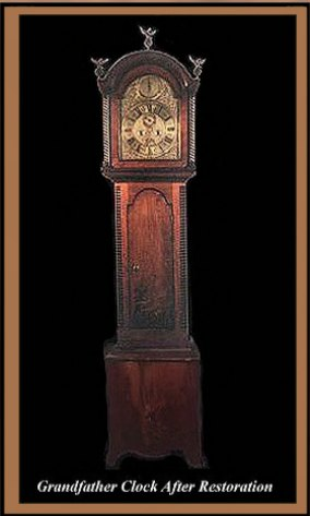Restored Grandfather Clock, Hander Woodworking