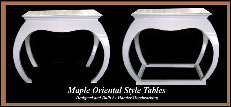Oriental Style Tables, Hander Woodworking
