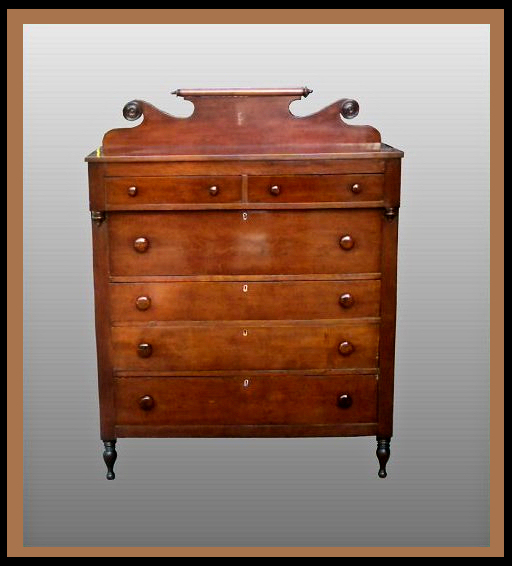 Early Victorian Cherry Chest of Drawers, Hander Woodworking