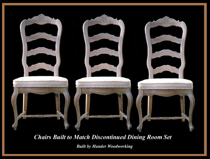 White Chairs, Hander Woodworking